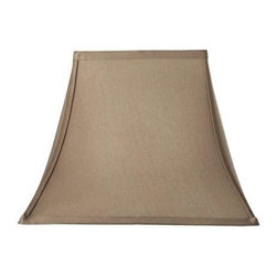Home Decorators Collection - Home Decorators Collection Rectangular Bell 13 in. H x 18 in. W Large Taupe Silk - Shop for Lighting & Fans at The Home Depot. The classic shape of our Rectangular Bell Silk Lamp Shade will complement a wide variety of decorating concepts. The gentle curves and pointed corners make a striking statement. Add this beautiful shade to your lamp and order yours today.