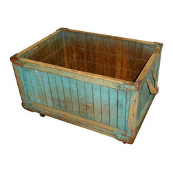 Vintage Bread Delivery Basket on Wheels - Dimensions 28.0ʺW × 20.0ʺD × 17.75ʺH