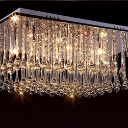 Lifeplus Modern Luxury Chandelier with 12 LED lights in Crystal -