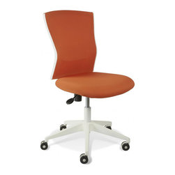 Jesper Office Furniture - Sanne Orange Armless Office Chair - Features: