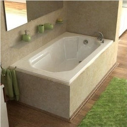 Spa World Corp - Atlantis Tubs 3660M Mirage 36x60x23 Rectangular Soaking Bathtub - The Mirage's illusively simple design comforts and soothes the body while enhancing themoment. The Mirage's defined rectangular design will ensure an easy fit into an existing space, while the interior octogonal shape embraces your body and calms your mind. The molded arm rests will guarantee that the day's troubles will ease away while the jets massage your body.