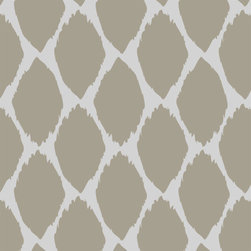 """Stencil Ease - Acacia Ikat Wall and Floor Stencil - Acacia Ikat Wall and Floor Stencil. Actual Size: 16.4 wide x 16.4"""" high on a 19.5"""" x 19.5"""" plastic stencil sheet (each ikat opening is 4 x 7) - production sizes also available. Quickly and easily create a comfortably classic ambience in your home with this Acacia Ikat Wall and Floor Stencil! This detailed laser-cut stencil is a professional designer's dream along with our production size stencils with additional repeats for the installation team. Our laser-cutting produces crisp clean smooth edges. We suggest you visit your local paint store for color ideas using contrasting colors or even trying a semi-gloss urethane (over a previously painted/stained surface) for a subtle effect Complete Kit Contains: 1 SSO2095 Acacia Ikat Wall & Floor stencil - 19.5"""" x 19.5"""" stencil sheet 1 T7602 2"""" High-density Foam Roller w/ 8"""" handle 4 MDA02171 Driftwood Acrylic Paint (2 oz. bottles) mixed w/ glaze (available at your local paint store)."""