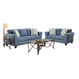 Chelsea Home Furniture - Chelsea Home Lehigh 3-Piece Living Room Set in Patriot Blue - Lehigh 3-Piece Living Room Set in Patriot Blue belongs to the Chelsea Home Furniture collection