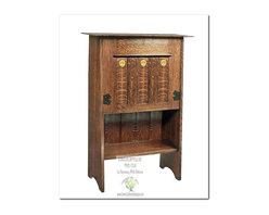 Mission Bookcases - This beautiful Desk is an identical Historic Reproduction of Gustav Stickley's Drop Front Desk by Harvey Ellis Circa 1904.  It is 100% Handcrafted in the United States by our Master-Craftsmen and Guaranteed for Life!