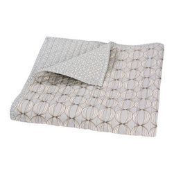 DwellStudio Kids Quilted Organic Mix & Match Play Blanket Ovals Grey - With all of the swaddling, covering, and cuddling, a simple blanket becomes an intricate part of your baby's nursery decor. I love this blanket for its supple softness and modern strength.