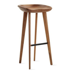 BassamFellows - Tractor Barstool, Walnut - I'd belly up to the bar in one of these.