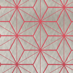 Villa Romo - Villa Romo Tatami Watermelon Wallpaper (Sample) - Wallpaper CalculatorThe surface on this wallpaper is very smooth, and the geographic shapes are raised to give it an interesting texture.