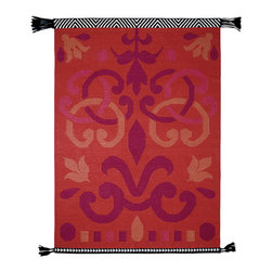 Gandia Blasco - Arabesco Wool Kilim Rug - Red - Gandia Blasco - All of the modern rugs by Gandia Blasco are Goodweave certified and the perfect addition to any room in your home. Yarn composition: 100% new Wool. Designed by Sandra Figuerola.
