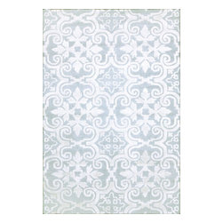 nuLOOM - nuLOOM Handmade Spanish Tiles Light Blue Wool Rug, (5' X 8') - Material: 100% Wool