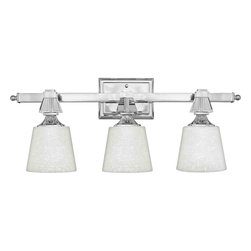 Quoizel Lighting - Quoizel DX8603C Deluxe Polished Chrome 3 Light Vanity - 3, 100W A19 Medium