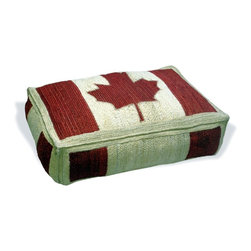 Loominary - Canadian Flag Floor Cushion - Turn over a new leaf with this Canadian flag floor cushion. A symbol of nature and the environment, you can use it indoors or out, for enjoyment year-round.