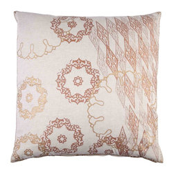 Ringlet Euro Pillow, Copper - This is a beautiful pillow, and it would look perfect paired with this little elephant pillow.