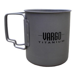VARGOX - Titanium Travel Mug - The 450 ml Vargo Titanium Travel Mug is a great companion both on and off the trail! Whether your journey includes sweeping mountain vistas, chatting with friends at the local coffee shop, or reading the paper at your kitchen table, its folding handles