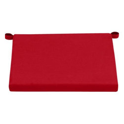 Alfresco Sunbrella® Red Ribbon Lounge Chair Cushion - Add extra comfort to Alfresco seating with fade-, water- and mildew-resistant Sunbrella® acrylic cushions in bright ribbon red.