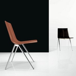 Modloft - Modloft | Mayfair Dining Chair - Made in Brazil by Modloft.The Mayfair Dining Chair features a stainless steel frame with leather or synthetic hair seat. Available in a variety of fabric options.