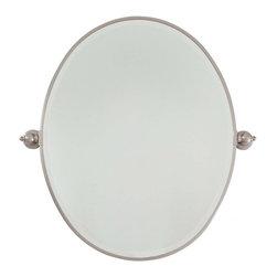 Minka-Lavery - Minka-Lavery Pivot Mirrors Large Oval Mirror - Beveled - 1433-84 - This Mirror has a Nickel Finish.
