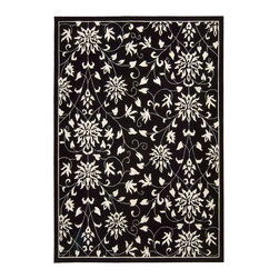 Nourison - Nourison Versailles Palace Transitional Floral Black White 8' x 11' Rug by RugLo - Fit for royalty, as the name suggests! This collection features stunningly elegant designs inspired by 18th Century French carpets and handmade with intriguing articulation from the highest quality wool. Features a dense, luxurious pile and hand-carved for added dimension with delicate accents that are a pleasure to both look at and touch.