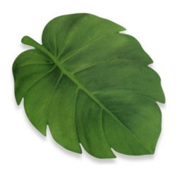 Elrene Home Fashions - Tropical Leaf Vinyl Placemat - This photo-real placemat looks like an authentic tropical leaf on your table. A cool, breezy look for any table.