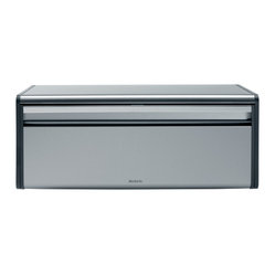 Brabantia Fall Front Bread Bin, Matte Steel (Fingerprint Proof)