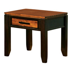 Steve Silver Furniture - Steve Silver Abaco End Table - Abaco end table belongs to Abaco collection by Steve Silver let the Abaco cocktail table take center stage at your next gathering. This end table features one drawer for storage and is offered in a two toned Multi-Step acacia finish.