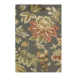 Nourison Country Amp Floral Fantasy 5 X7 6 Quot Rectangle Grey