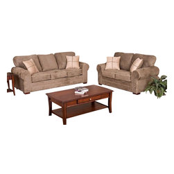 Chelsea Home Furniture - Chelsea Home Tammy 2-Piece Living Room Set in Dynasty Chamois - Tammy 2 Piece Living Room Set in Dynasty Chamois belongs to Benchmark collection by Chelsea Home Furniture.