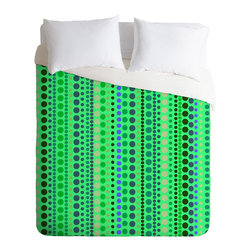 DENY Designs - Romi Vega Retro Green Duvet Cover - Turn your basic, boring down comforter into the super stylish focal point of your bedroom. Our Luxe Duvet is made from a heavy-weight luxurious woven polyester with a 50% cotton/50% polyester cream bottom. It also includes a hidden zipper with interior corner ties to secure your comforter. it's comfy, fade-resistant, and custom printed for each and every customer.