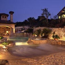 Mediterranean Pool by Stadler Custom Homes