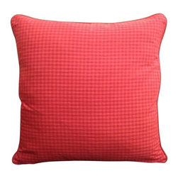 Red Square Pillow - A timeless classic, our Red Square Pillow will add warmth and style to any living space.  The simplistic red checkered print will charm and accentuate any decor.