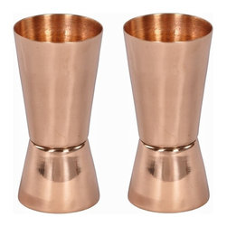 Custom Copper Mugs, LLC - Set of 2 Copper Shot Glasses - Our shot glasses are constructed of 100% pure copper. We apply a food-safe lacquer that resists tarnishing for lasting beauty and luster. The copper enhances the flavor and keeps the shot colder, longer.