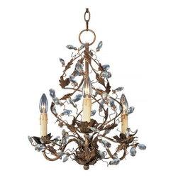 Maxim Lighting - Maxim Lighting 2850EG Elegante 3-Light Chandelier In Etruscan Gold - Features