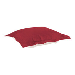 Howard Elliott - Howard Elliott Bella Merlot Puff Ottoman Cushion - Puff ottoman cushion bella merlot
