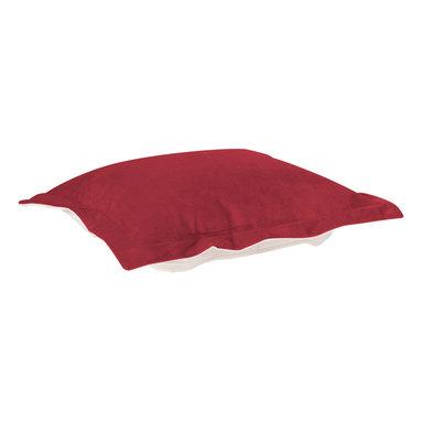 Howard Elliott - Howard Elliott Bella Merlot Puff Ottoman Cushion - Puff ottoman cushion bella merlot
