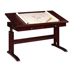 Home Decorators Collection - Multi-Use Writing Table w/ 2 Drawers - With a beautiful solid pine construction, the Multi-Use Writing Table is built for both style and quality. Tilt the top up at an angle, or let it lie flat on the frame while you work. This multi-purpose worktable is perfect for anything from completing your latest painting to sorting your mail. Be sure to order this home office furniture today.Storage drawers help keep you organized while you work.Easy-to-use peg lock system allows you to fix the height to 6 different settings.Pencil ledge holds papers and writing implements in place when the top is in its tilted position.