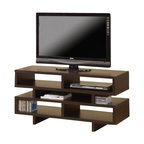 "Coaster - TV Console (Cappuccino) By Coaster - This simple and contemporary TV console will fit nicely with most home decor. Featuring plenty of open storage space with separated compartments for convenient organization in a cappuccino finish. Dims: 47.25"" X 15.75"" X 23.75""."