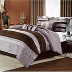 None - Castle Rock Brown 8-piece Comforter Set - This trendy eight-piece comforter set from Castle Rock will complete your bedroom with an urbane look. This cozy comforter has circle embroidered motifs and delicate pin tucks and is made from 100-percent polyester, making it easy to wash by machine.