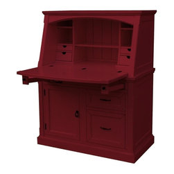 EuroLux Home - New Desk Red Painted Hardwood Tuscany - Product Details
