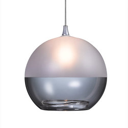Shakuff - Milk Glass Pendant Light, Clear and Frosted - Illuminate your room with a stunning handmade glass pendant light. Hang the semifrosted orbs individually or stagger them to create a dramatic bubble-like effect.  Whatever you choose, you won't be disappointed.