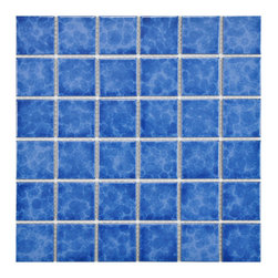 None - SomerTile 11.875x11.875-in Watermark Square 2-in Catalan Porcelain Mosaic Tile ( - This tile set is suitable for medium-duty residential floors including kitchens, halls, corridors, balconies, terraces and areas used more often with normal footwear and small amounts of dirt. The deep blue set contains 10.4 square feet.