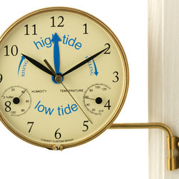 ConantCustomBrass - Time & Tide Clock - Indicates the Time and the status of the tide