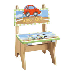 Teamson Design - Teamson Kids Transportation Hand Painted Time Out Chair - Teamson Design - Kids Chairs - W9942A.