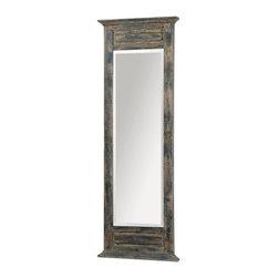 Distressed Slate Blue Mirror - Distressed Slate Blue Mirror