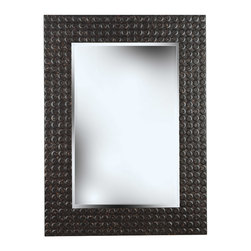 Kenroy - Kenroy 60012 Murphy Wall Mirror - A richly textured raised ring frame provides an earthy contrast to the smooth, Silvered glass mirror inside.