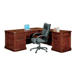 DMi Furniture - DMi Arlington Executive L-Shaped Desk-Right L-Desk - DMi Furniture - Computer Desks - 775057 - Updated classic design elements come together to creat an exceptionally handsome refine look that is Arlington.Features: