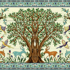 tile mural ceramic - Olive Tree of Jerusalem by Balian
