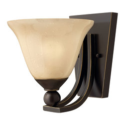 Hinkley Lighting - Bolla Single Sconce - Opal-etched glass, brushed nickel finish and graceful lines will bring a fresh new look to your decor. Decorate a hallway, dramatize an entryway or place one on either side of a fireplace for an unusual display.