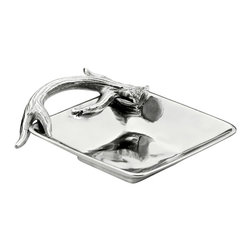 "Arthur Court - Antler 6.5"" Square Bowl - With its square shape and antler handle, this unique serving piece will make your fine finger foods even more tempting. But you may choose instead to use it to add flair to a bathroom or dressing table."