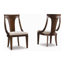 Hooker Furniture - Abbott Place Sling Back Chair - Set of 2 - Tapered legs. Made from hardwood solids and cherry veneers. Warm cherry finish. 21.25 in. W x 24 in. D x 39 in. H. Assembly InstructionsAbbott Place takes a hip spin on traditional styling for a look that blends the best of classic American influences with fresh, updated design. Offering a broad piece assortment for every room in your home.