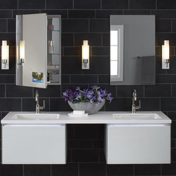 """Robern - 24"""" DEEP Vanity with Night Light in White - VD24BCL21 (Shown 2)"""