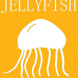 Oh How Cute Kids by Serena Bowman - Jellyfish Silhouette, Ready To Hang Canvas Kid's Wall Decor, 11 X 14 - Each kid is unique in his/her own way, so why shouldn't their wall decor be as well! With our extensive selection of canvas wall art for kids, from princesses to spaceships, from cowboys to traveling girls, we'll help you find that perfect piece for your special one.  Or you can fill the entire room with our imaginative art; every canvas is part of a coordinated series, an easy way to provide a complete and unified look for any room.